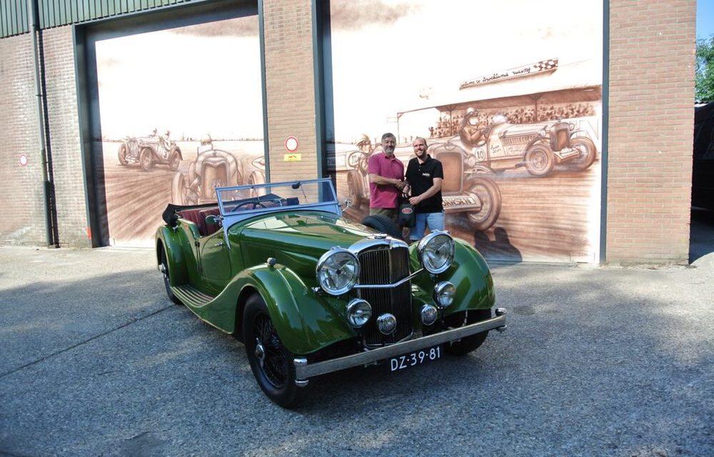 Alvis speed 25 is afgeleverd en meteen maar een rit naar Engeland