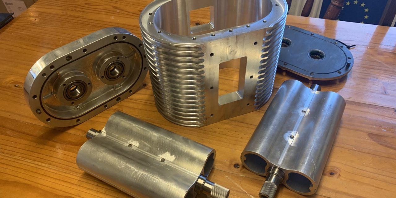 Compressor aan het maken voor een Bentley.