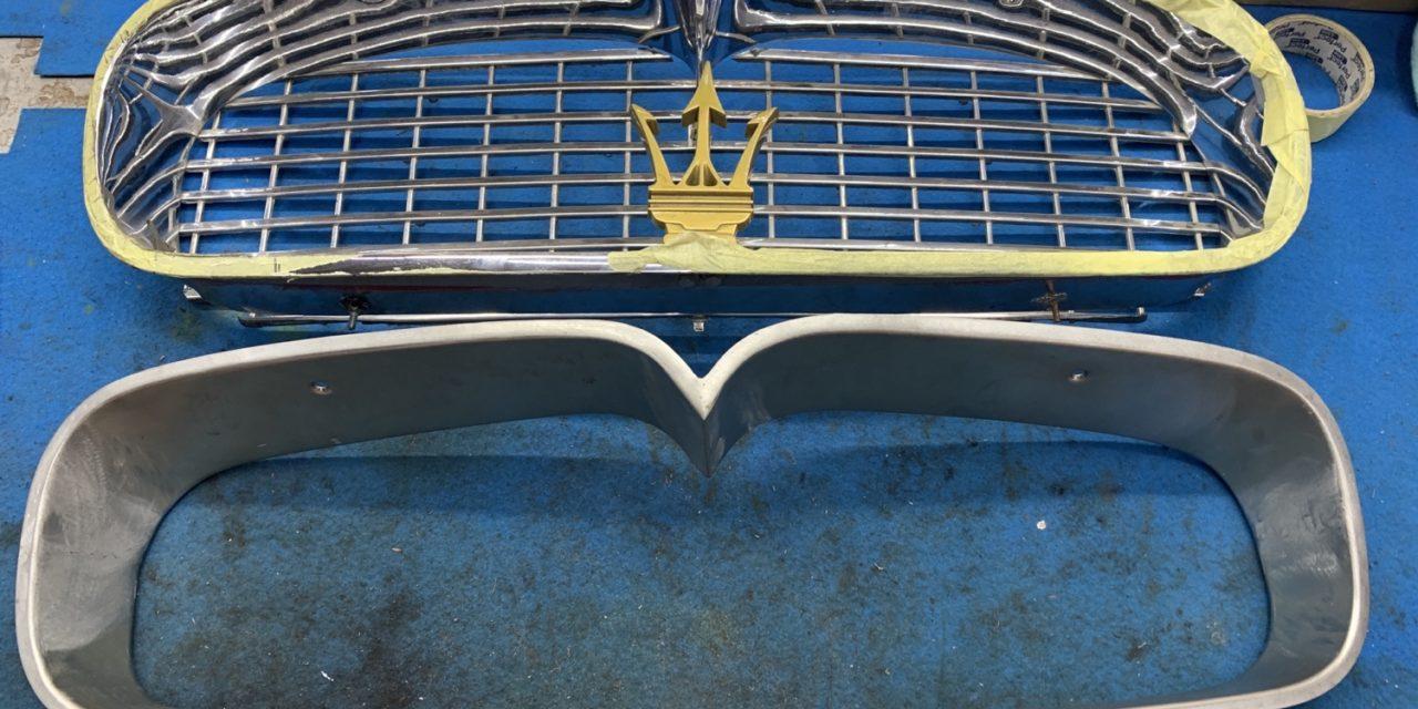 Gril en neus gemaakt voor een Maserati