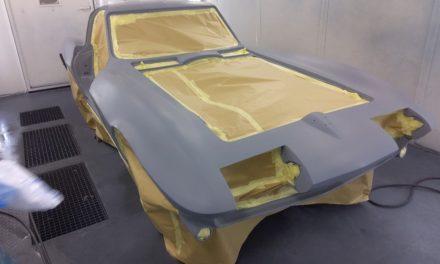 Corvette staat in de grondverf