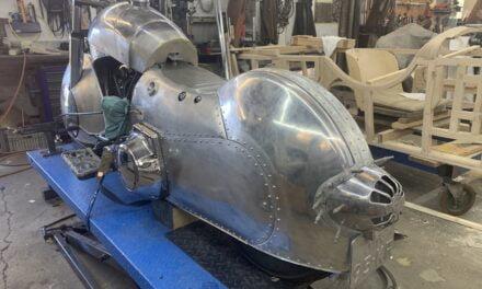 Harley Davidson in opbouw